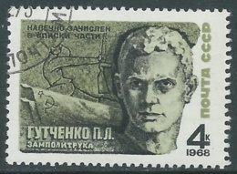 1968 RUSSIA USATO EROI SOVIETICI BAIKOV 4 K - V22 - 1923-1991 URSS