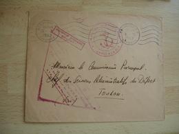Escorteur D Escadre Bouvet Poste Nanale Lettre Officie - Marcophilie (Lettres)