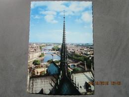 CP 75 La Cathédrale NOTRE DAME De PARIS - La Flèche Viollet Le Duc Avec La Girouette Le Coq  - Panorama De La SEINE - Notre Dame De Paris