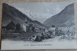 Cpa - (74) - église Du Tour Et Le Mont Blanc - Chamonix-Mont-Blanc