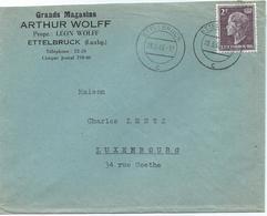 Brief - Ettelbruck, Grands Magasins Arthur Wolff - Stempel 28-03-1949 - Luxembourg