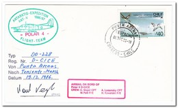 Chili 1986, Antarctic Expedition Ant-V, Airplane Polar IV, Birds - Other Means Of Transport