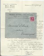 Brief - Useldingen, Gerberei, Leder- U. Schuhhandlung Pierre Sinner - Stempel 15-08-1917 - Private