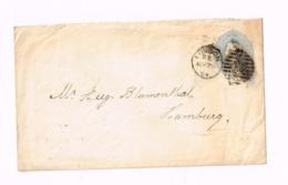 Entier Postal à 2 Pence 1/2 Penny.Expédié De London à Hamburg (Allemagne) - Entiers Postaux