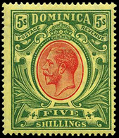 Dominica ,1908, $5  Mult Crown CA , SG.47/54 ,scarce , MNH ** - Unclassified
