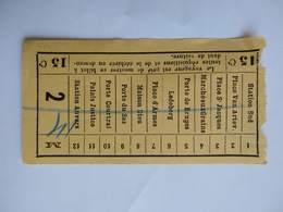 Elektrieke Tramways Electriques Ticket Billet Tram Gand Station Sud > Station Anvers (Dampoort) 15c. Belgique - Tramways