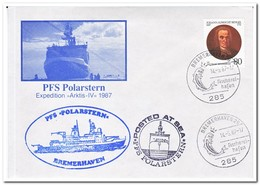 Duitsland 1987, FS Polarstern Arktis IV, Carried By Helicopter, Fish - Poolshepen & Ijsbrekers
