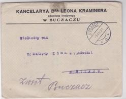 KANCELARYA DRA LEONA KRAMINERA-ENVELOPE CIRCULEE BUCZACZ 1921-POLONIA - BLEUP - Storia Postale