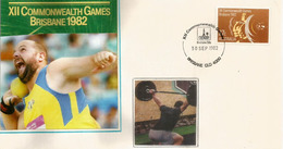 Haltérophilie Et Lancement Du Poids Aux Jeux De Brisbane (Commonwealth Games) 1982 - Haltérophilie