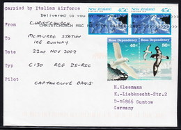 ANTARCTIC,ITALIA, Sped. 2002, Italian Airforce-Flight With C 130 HERCULES,sign, RARE ,look Scan !! 13.3-02-2017 - Stamps
