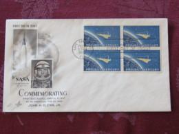 USA 1962 FDC Cover Cape Canaveral - Project Mercury - Space Conquest - John Glenn - Etats-Unis