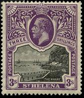 St Helena , 3/ , 1912 Mult Crown CA ,SG.#81. CV$180 ,scarce , MNH ** - Unclassified