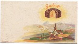 "PUBBLICITA' PANETTONE ""GALUP"" FERRUA PINEROLO (TORINO) CARTONCINO CM.11X6 DUE SCANNER -2-28904- 905 - Publicité"