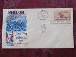 USA 1962 FDC Cover Shiloh - Civil War - Soldier Gun - Flags - Etats-Unis