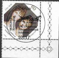 2014 Allem. Fed. Mi.  3079 FD-used Berlin EUR  250. Geburtstag Von Johann Gottfried Schadow - [7] République Fédérale