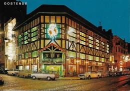 "Belgique Belgium Oostend Ostend ""Cheval Blanc"" La Nuit ""White Horse"" At Night - Hotels & Restaurants"