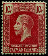 Cayman Islanda , 10/ , 1921 Mult Crown CA , SG.67, CV$100 ,scarce , MNH ** - Unclassified