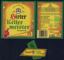 Autriche Lot 3 Etiquettes Bière Beer Labels Hirter Keller Meister Bio Naturtrüb - Bière