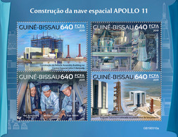 Guinea Bissau. 2019 Building Of The Apollo 11 Spacecraft. (0310a)  OFFICIAL ISSUE - Espace