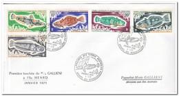 Frans Antarctica 1971, FDC, Fish - FDC