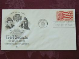 USA 1962 FDC Cover Burlington - Girl Scouts - Etats-Unis