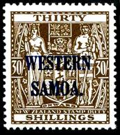 Western Samoa  , 1945 Arms 30/, Upright WM,  SG.211 ,scarce , MNH ** - Unclassified