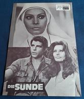 """Sophia Loren, Adriano Celentano, Fernando Rey > """"Die Sünde"""" > Altes NFP-Filmprogramm '1973 (fp3) - Zeitschriften"""