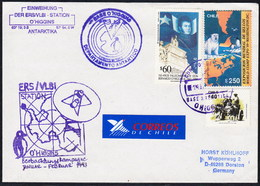 """ANTARCTIC, CHILE,GERMANY, Base O'HIGGINS,1.5.1993,3 Cachets """"VLBI-Station"""" EINWEIHUNG,look Scan !! 8.6-29 - Unclassified"""
