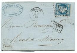 ENVELOPPE / N° 14 NAPOLEON TOULOUSE POUR MONT DE MARSAN / 25 JUIL 1862 / APRES LE DEPART - 1849-1876: Période Classique