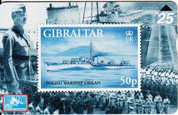 GIBRALTAR - Stamp, Polish Warship Orkan, CN : 709L, Tirage 3000, Mint - Gibraltar