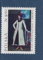 POLISH ART THE NOBLEMAN TENCZYNSKI PORTRAIT POLAND POLEN POLOGNE 1973 Mi 2244 SCOTT 1968 MNH - Arts