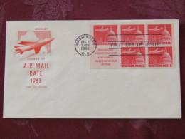 USA 1962 FDC Cover Washington - Air Mail 8c Plane - Booklet - Scott C64B = 3 $ - Etats-Unis