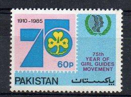 PAKISTAN - 1985 - 75th YEAR OF THE GIRL GUIDE MOVEMENT - 75éme ANNIVERSAIRE DU MOUVEMENT SCOUT FEMININ - - Pakistan