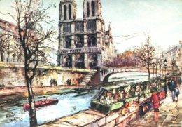 Attilio - Paris (75) : Notre Dame Et Les Bouquinistes - Illustrateurs & Photographes