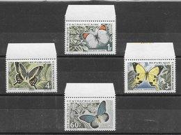 Centrafrique N°31 à 34 Papillon 1963** - Centrafricaine (République)