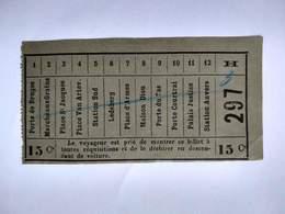 Tram Gand Gent Porte De Bruges > Station Anvers (Dampoort) NMBS SNCF Ticket Billet Belgique - Tramways