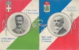 Italia Cartolina Illustrata Visita Del Presidente Francese Loubet Viaggiata 1904 - Personaggi