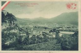 Italia Cartolina Illustrata La Nuova Italia Redenta Panorama Di Trento Viaggiata 1915 - Guerra 1914-18