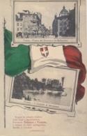 Italia Cartolina Illustrata Bandiera Italiana E Immagini Di Trento E Trieste Viaggiata 1916 - Guerra 1914-18