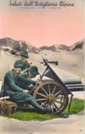 Italia Cartolina Illustrata Saluti Dalla Artiglieria Alpina Viaggiata 1939 - Reggimenti
