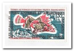 Frans Antarctica 1975, Letter To Denain, Fish Overprint, Poissons ,surimpression - Franse Zuidelijke En Antarctische Gebieden (TAAF)