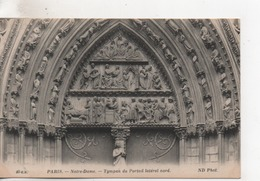 CPA.75.Paris .Notre Dame.Tympan Du Portail Latéral Nord - Notre Dame De Paris
