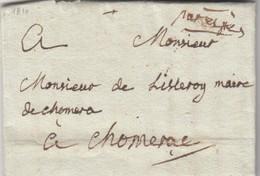 1810. LETTRE DE PONT ST ESPRIT GARD. MANU  PAR EXPRES. POUR CHOMERAC ARDECHE  /  7494 - 1801-1848: Précurseurs XIX