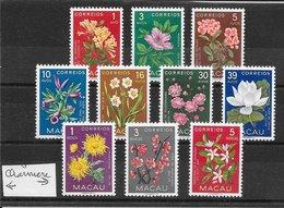 Macao N°363 à 372 Fleur 1953 * - Macao