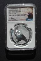Australia, Wedge Tailed Eagle 1 Oz 2016 Silver 999 Pure In SLAB GEM BU NGC - 1 Oncia Argento Puro Bullion Perth Min - Australia
