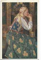 POLOGNE - J. KRASNOWOLSKI : W KOSCIELE. CPA Ayant Circulé En 1910. - Pologne