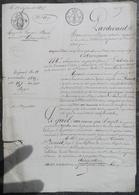 A.Dubois De La Drouardière à Ste-Marie Dubois(53),vend Au Comte Bonnet Château De La Touche à St.Denis(61)Maison Alençon - Manuscritos