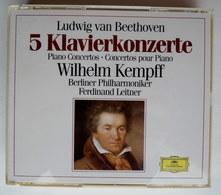 COFFRET 3 CD CONCERTO POUR PIANO LUDWIG VAN BEETHOVEN - Wilhelm Kempff ORCHESTRE PHILARMONIQUE DE BERLIN - Classique