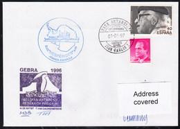 "ANTARCTIC, BELGIEN On Base J.CARLOS 1997 "" Exp. GEBRA 1996"", 2 Cachets + Sign , Look Scan !! 24.11-11 - Stamps"