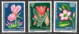 Mali N°57 à 59 Fleur 1963 ** - Mali (1959-...)